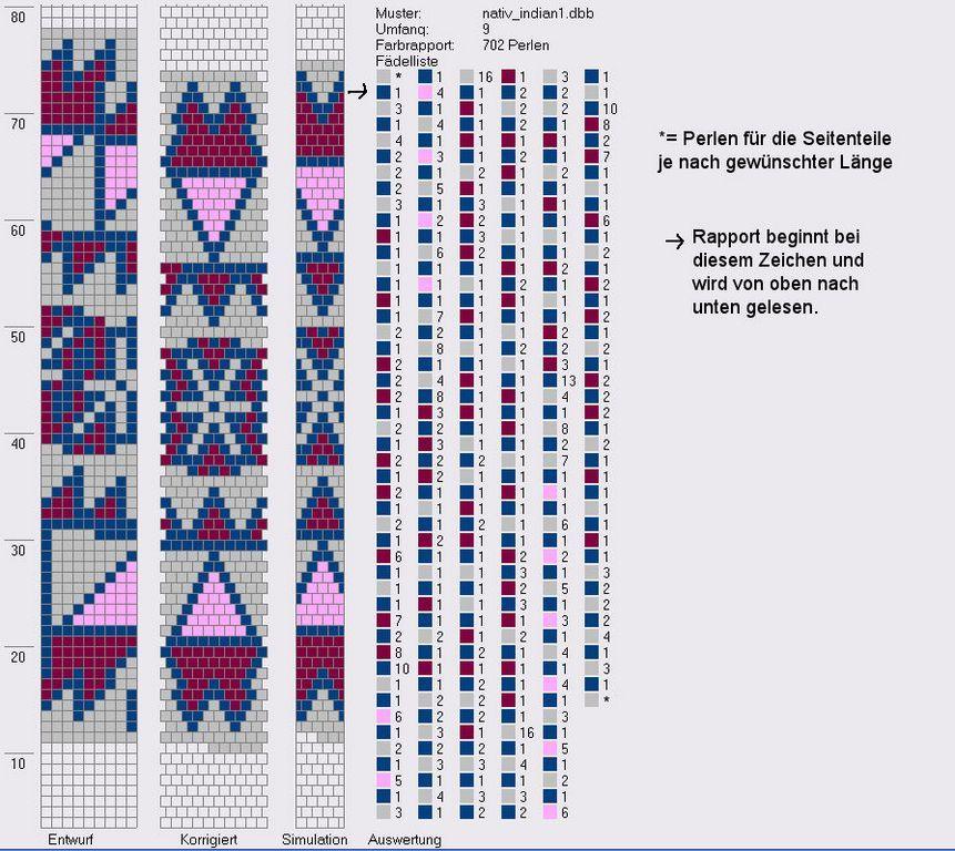 Schlauchketten häkeln-Musterbibliothek: 9 around   Bead peyote ...