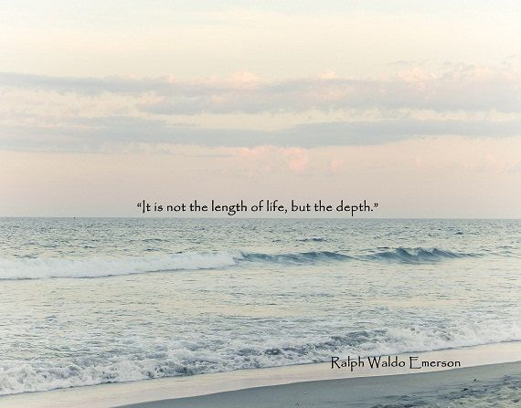 Short Beach Quotes Beach Quote Ocean Photography Ralph Waldo Emerson Pastel Blue Teal  Short Beach Quotes
