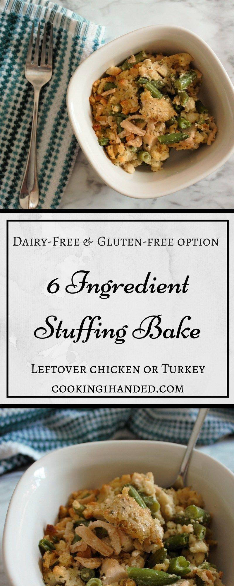 Dairy free six ingredient one pan stuffing bake perfect