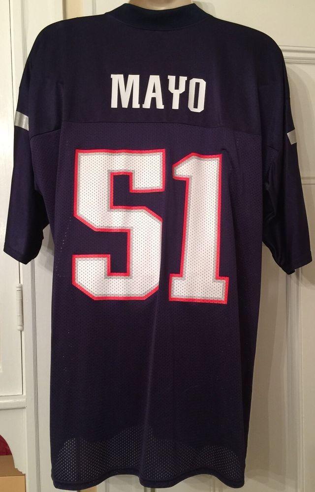 41bdc6f04 Jerod Mayo  51 New England Patriots Men s XLarge Jersey Reebok NFL PLAYERS  VGUC!  Reebok  NewEnglandPatriots