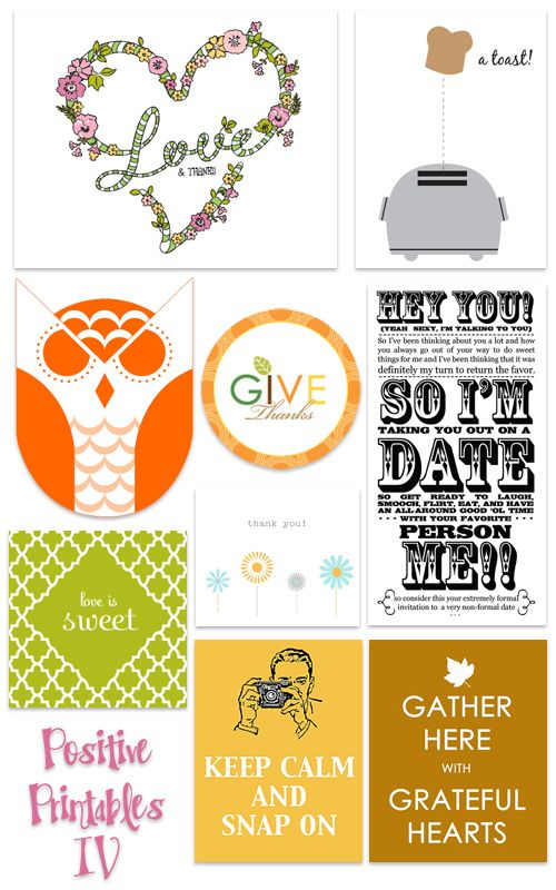 Positive Printables IV! Project life, Free printables and Cricut - invitation non formal