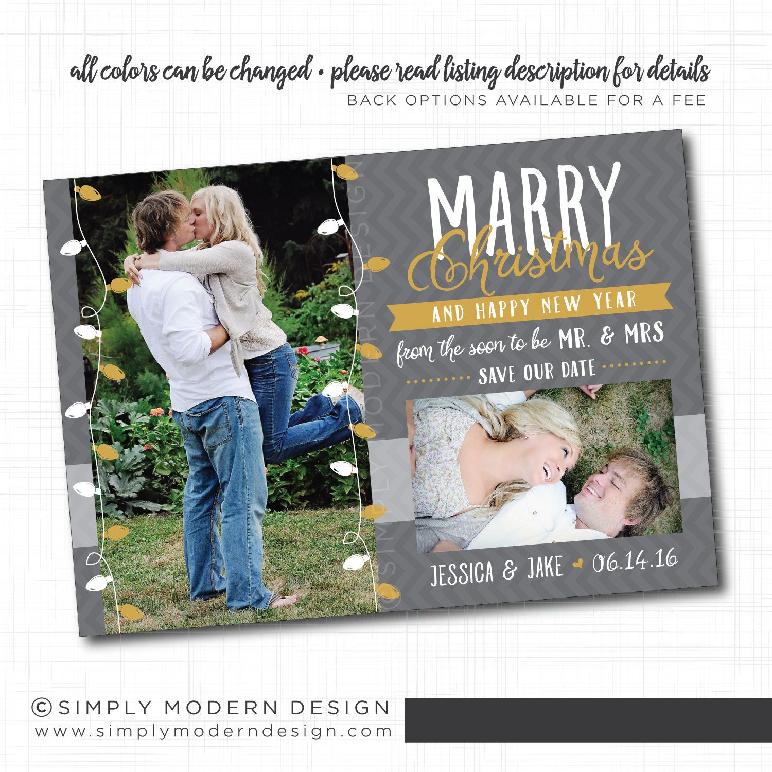 marry little christmas save the date card, invitation, wedding, save ...