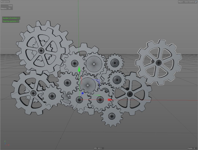 Gear rig – animated rigged free 3D model ready for CG