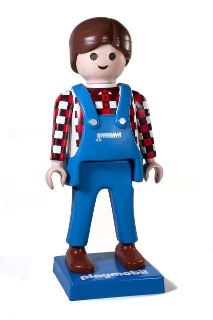 Playmobil g ant homme fermier version 1 brun 2005 bo te 4490 playm - Playmobil geant decoration ...