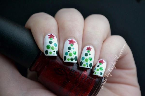Xmas Nails Christmas Nails Tree Nails Holiday Nails