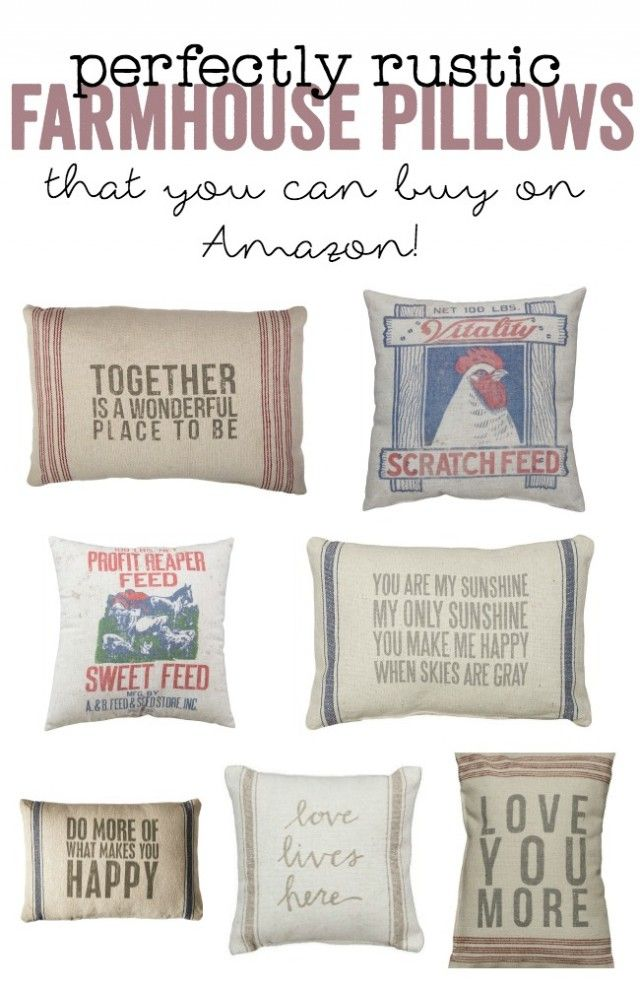 Farmhouse Pillows That You Can Buy On Amazon Farmhouse Pillows Pillows Farmhouse Pillows Grain Sack