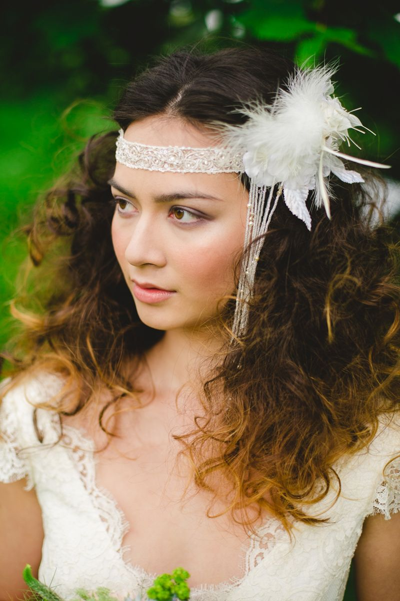 Midsummer bohemia headpieces wedding and veil