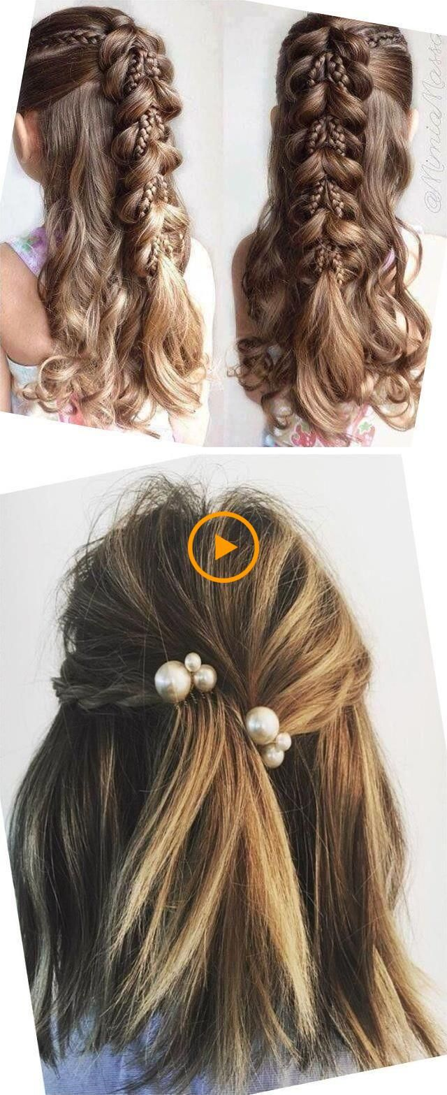 Photo of Different hairstyles for girls Simple hairstyles for children Creative hair …