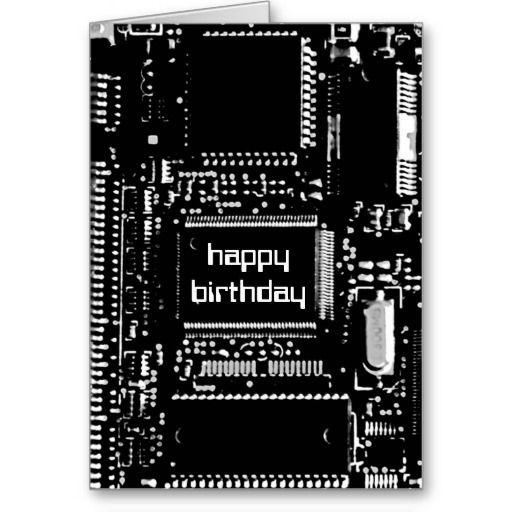 Circuit B W Happy Birthday Card Zazzle Com Happy Birthday Cards Happy Birthday Greeting Card Birthday Cards