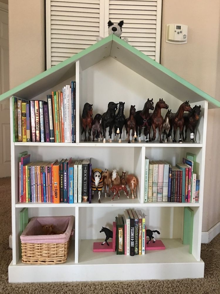 Pottery Barn Kids Dollhouse Bookcase Retired Vguc Pottery