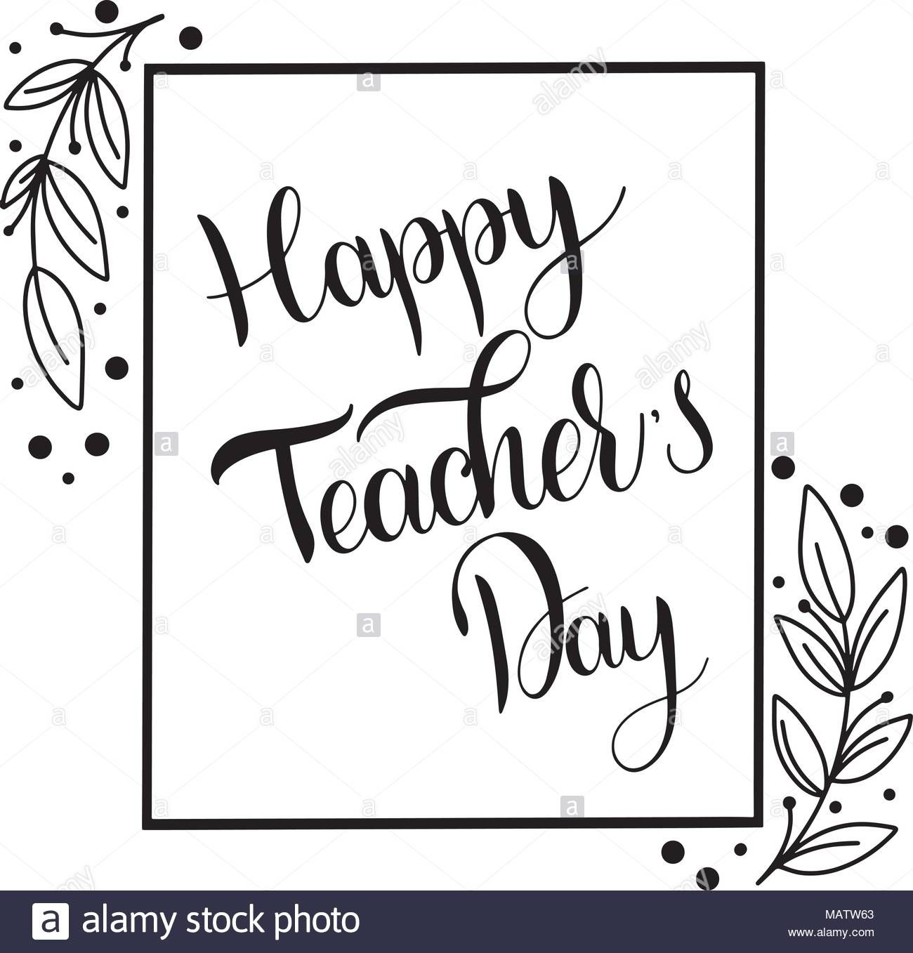 Download This Stock Vector Happy Teacher Day Lettering Elements
