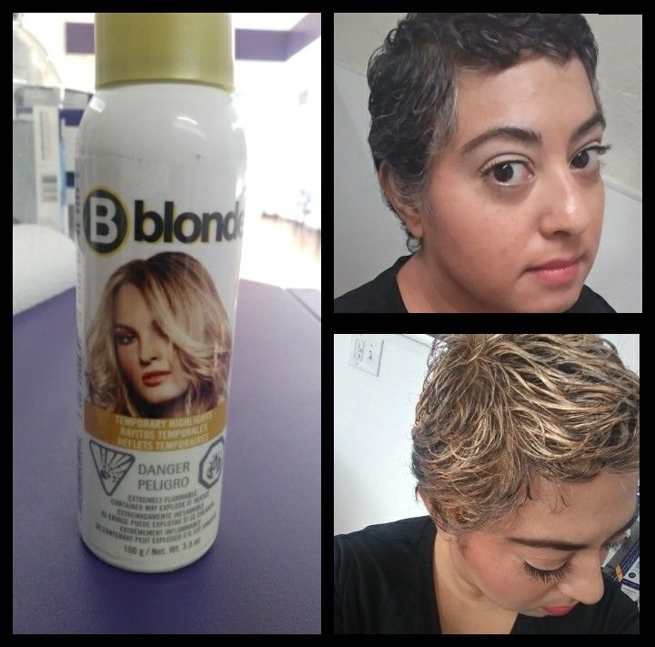Bblonde Natural Blonde Blonde Hair Spray Temporary Hair Color