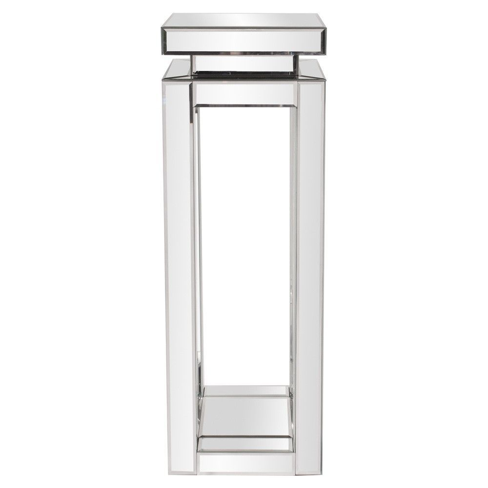 Howard elliott mirrored pedestal table tall pedestal and basements howard elliott mirrored pedestal table tall geotapseo Image collections
