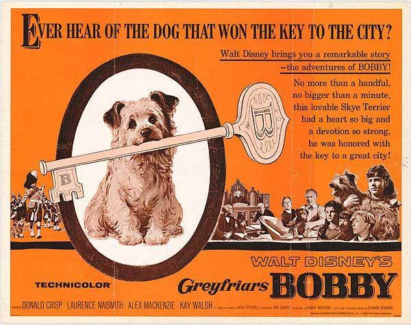 Greyfriars Bobby disney movie poster