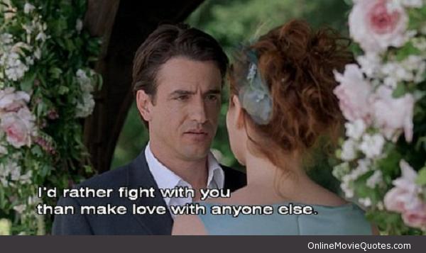 """Prefiero pelear contigo que hacer el amor con otra persona...en """"La Boda de Mi Mejor Amigo"""""""