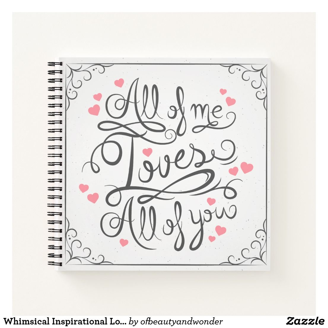 Whimsical Inspirational Love Quote Guestbook Notebook ...