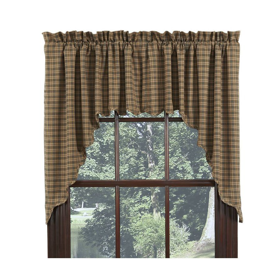 Vernonburg scalloped lined swag curtain valance set of