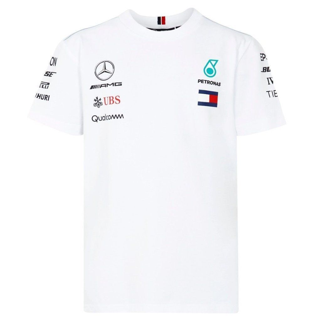 c920f4e51 Mercedes Benz AMG Petronas Kids White Authentic 2018 F1 Team T-Shirt ...