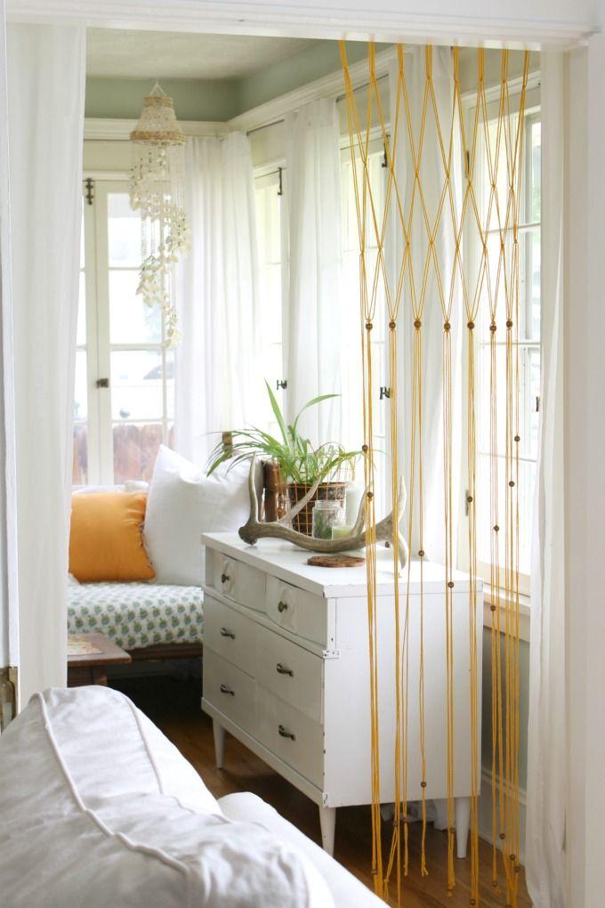 Easy Macrame Bead Curtain Using Yarn Diy Beaded