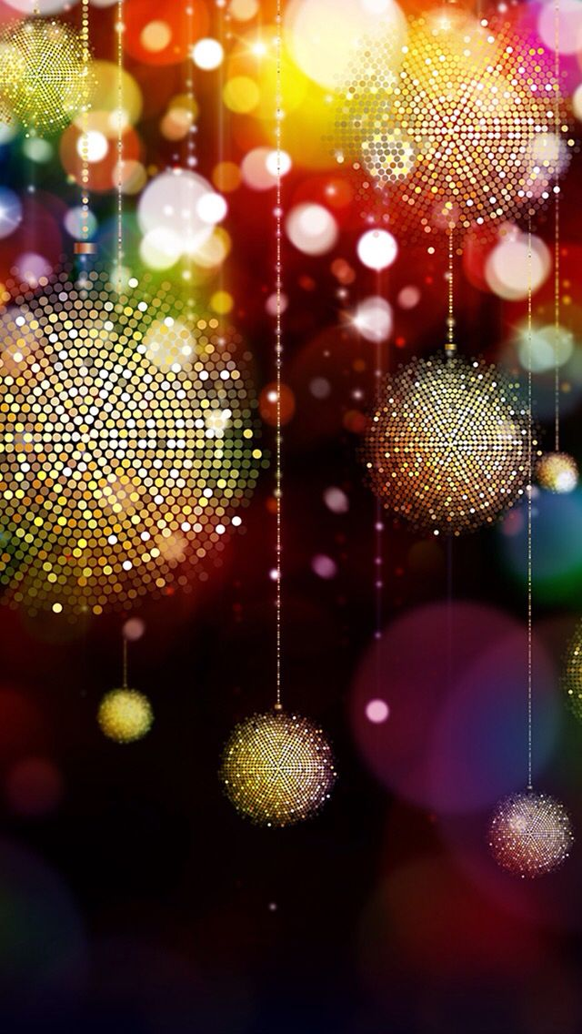 Sparkly Christmas Ornaments Wallpaper | *Colorful and Rainbow ...