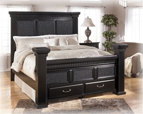 Black King Bed With Storage