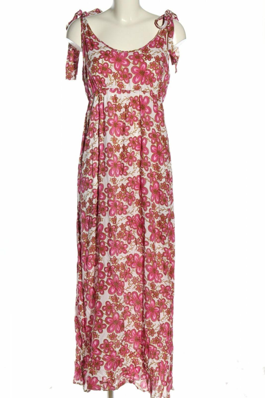 Maxikleid Allover-Druck Casual-Look Damen Gr. DE 10 pink Kleid