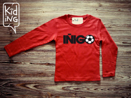 Camiseta fútbol roja Kiding en Erizzos