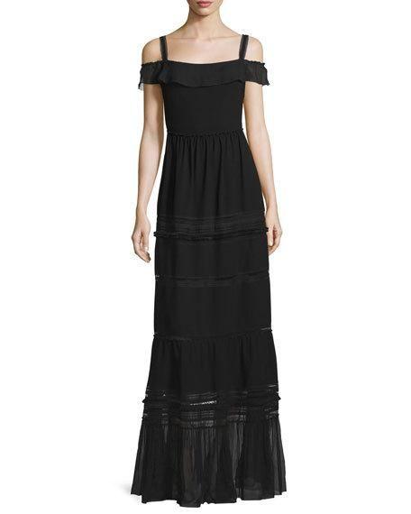 black off the shoulder maxi dress -- now on major sale!!