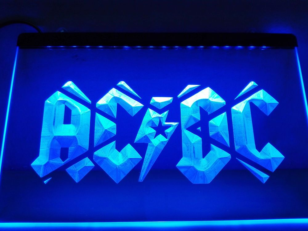 Led Sign Home Decor Amazing Lf079 Acdc Acdc Band Music Bar Club Led Neon Light Sign Home Decorating Design