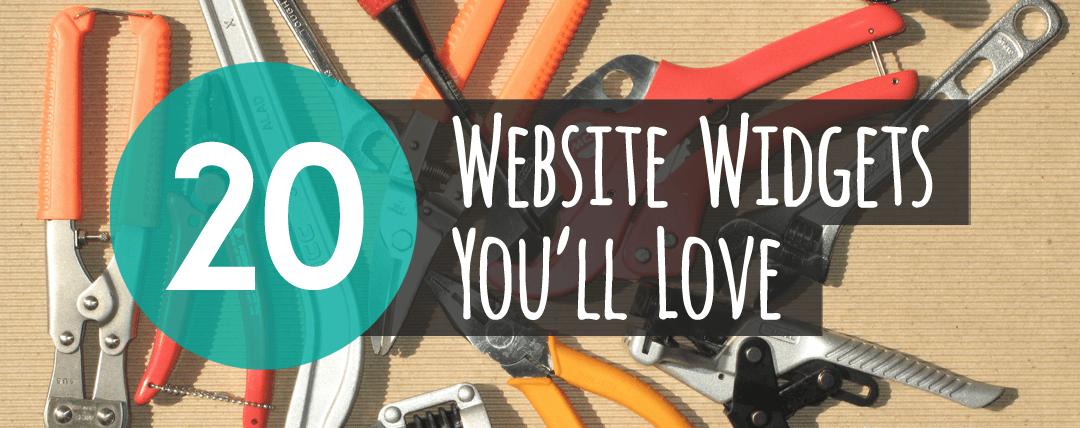 20 Website Widgets You Ll Love