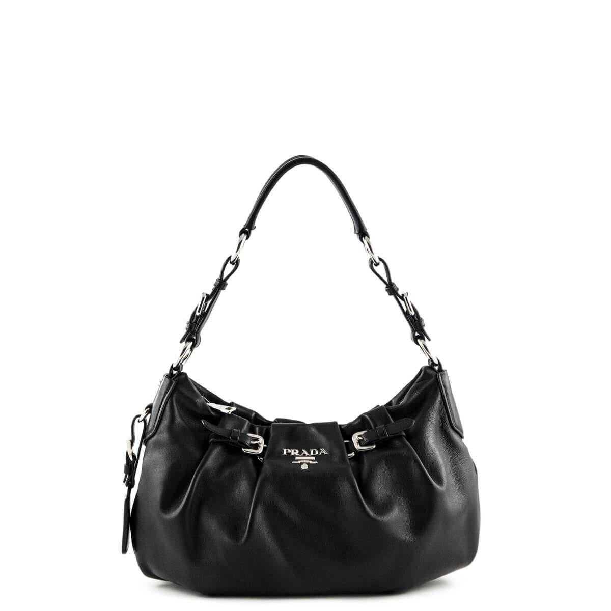ceac494cfcf5 Prada Black Vitello Daino Hobo - LOVE that BAG - Preowned Authentic  Designer Handbags -  650