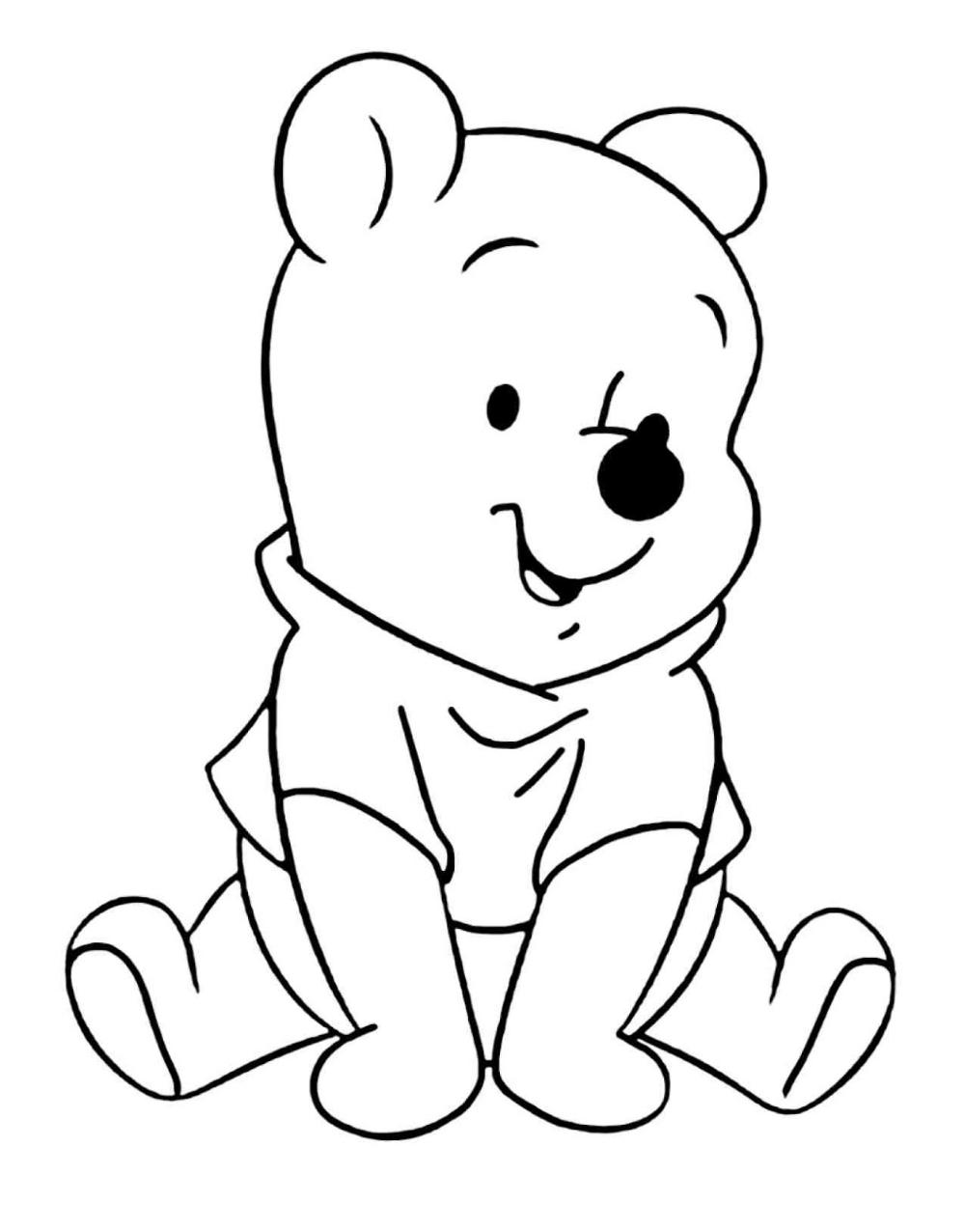 Winnie Pooh Bebe Para Colorear Busqueda De Google Baby Coloring Pages Bear Coloring Pages Cartoon Coloring Pages