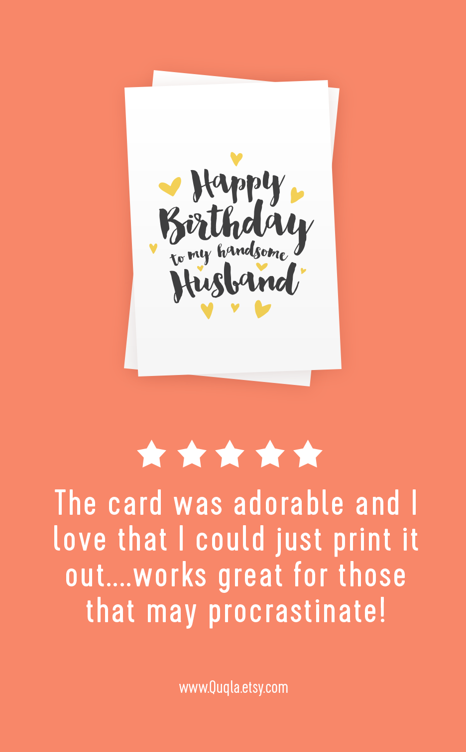 Printable Happy Birthday Card For Husband Happy Birthday Etsy Happy Birthday Cards Printable Birthday Cards For Him Happy Birthday Cards