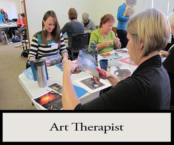an Art Therapist! Art therapists aim to help