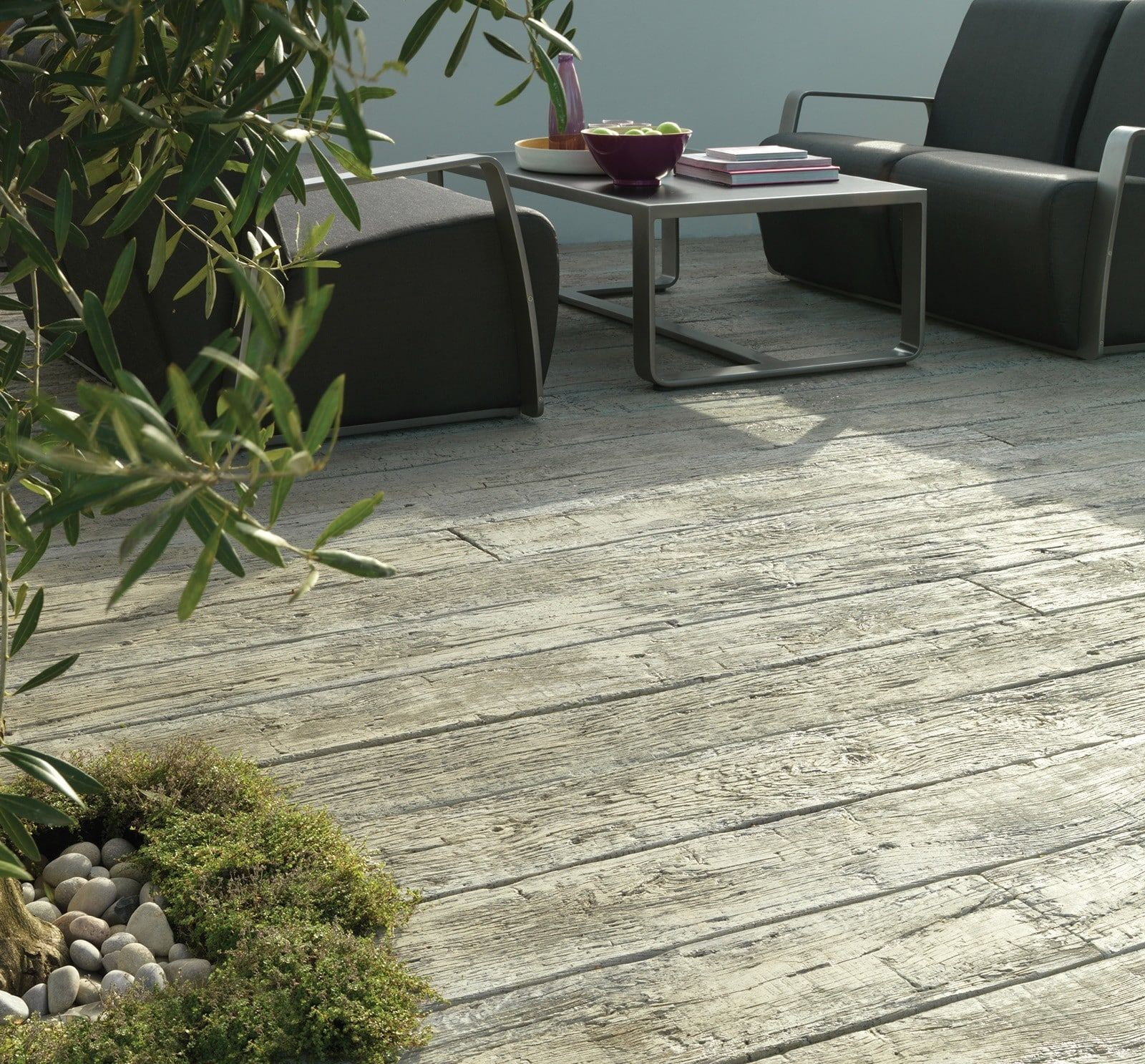 Driftwood Mediterranean Style Deck Residential, Driftwood