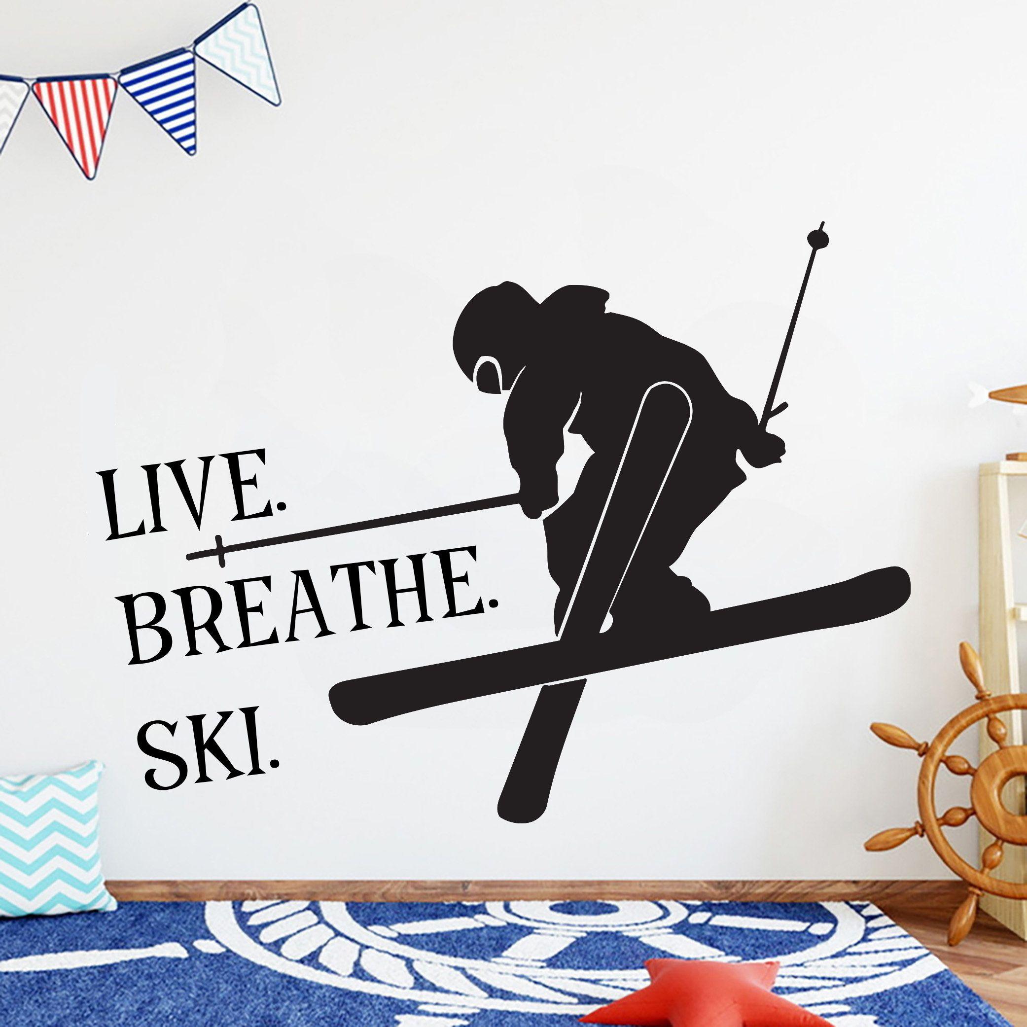 Skiing Wall Decor Custom Skier Ski Lift Chair Mountain Pine Etsy Vinyl Wall Art Decals Custom Decals Vinyl Wall Decals [ 2083 x 2083 Pixel ]