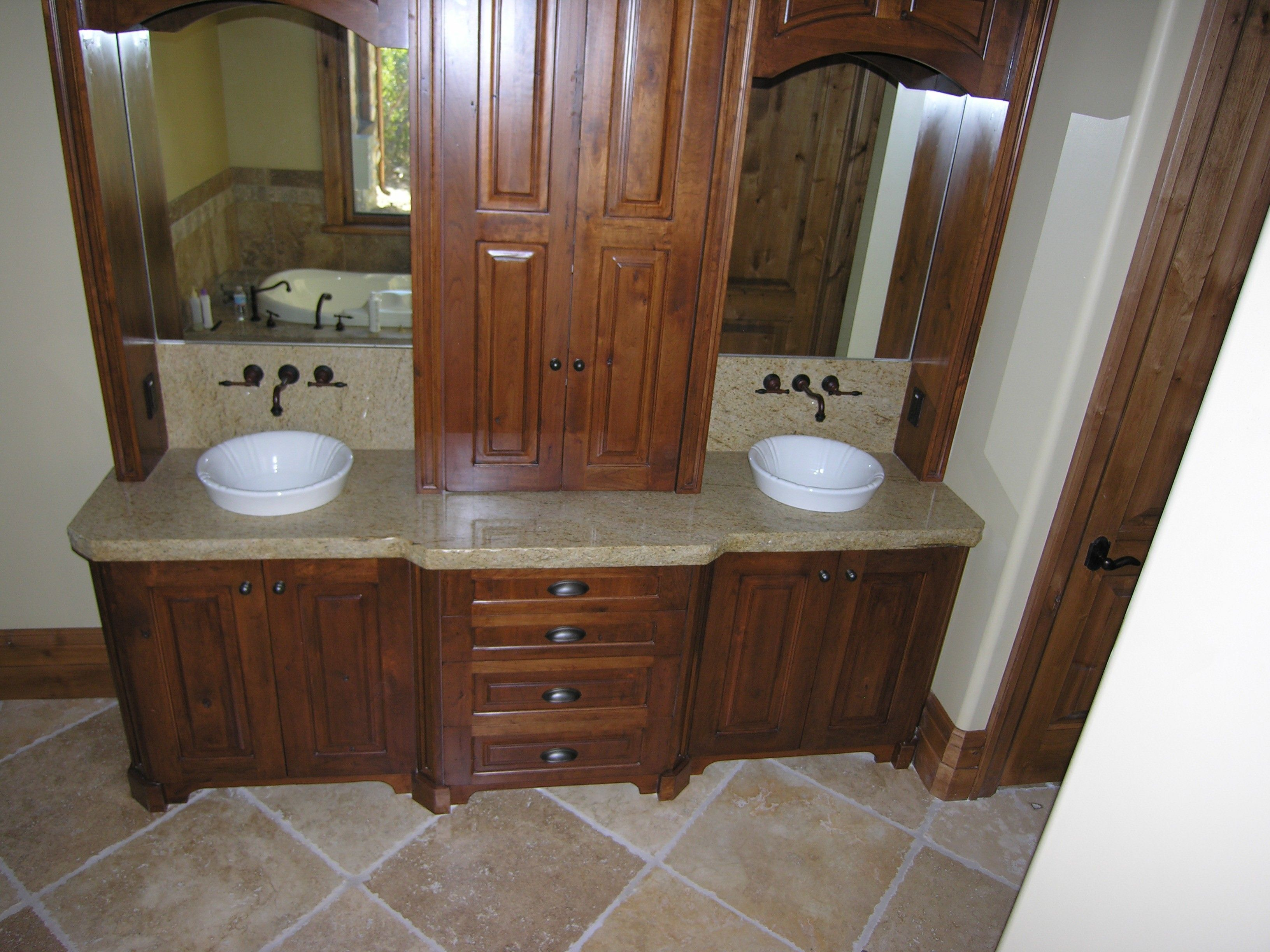 Charming Bathroom Vanities Without Tops For Bathroom Furniture Ideas: Brown  Wooden Bathroom Vanities Without Tops
