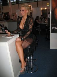 Blonde milf in changing rooms