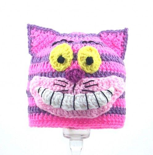 cheshire cat crochet hat pattern - Google Search   Acessoires ...
