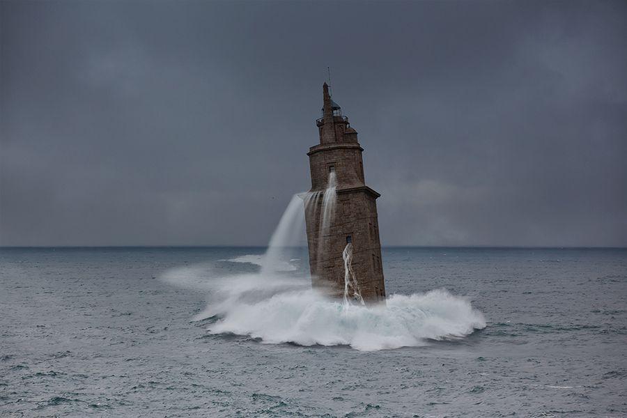 Fantasia en la Torre de Hércules Espana. La Coruña