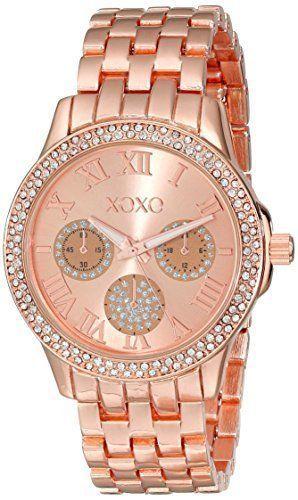 XOXO Womens XO181 Analog Display Analog Quartz Rose Gold Watch ... ada28d1cdf5a