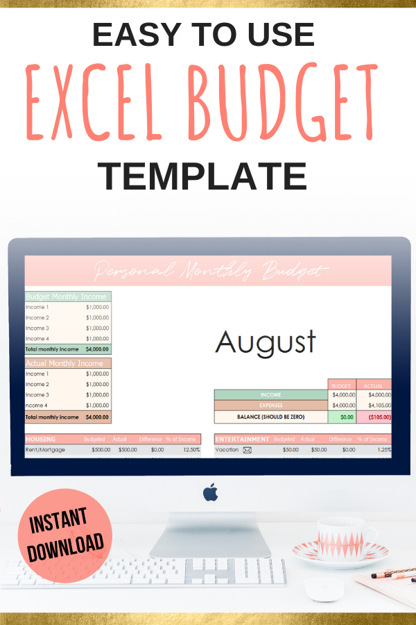 Excel Budget Template Dave Ramsey Budget Template Digital