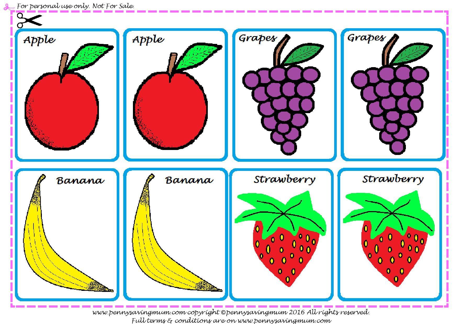 Matching Pairs Fruit