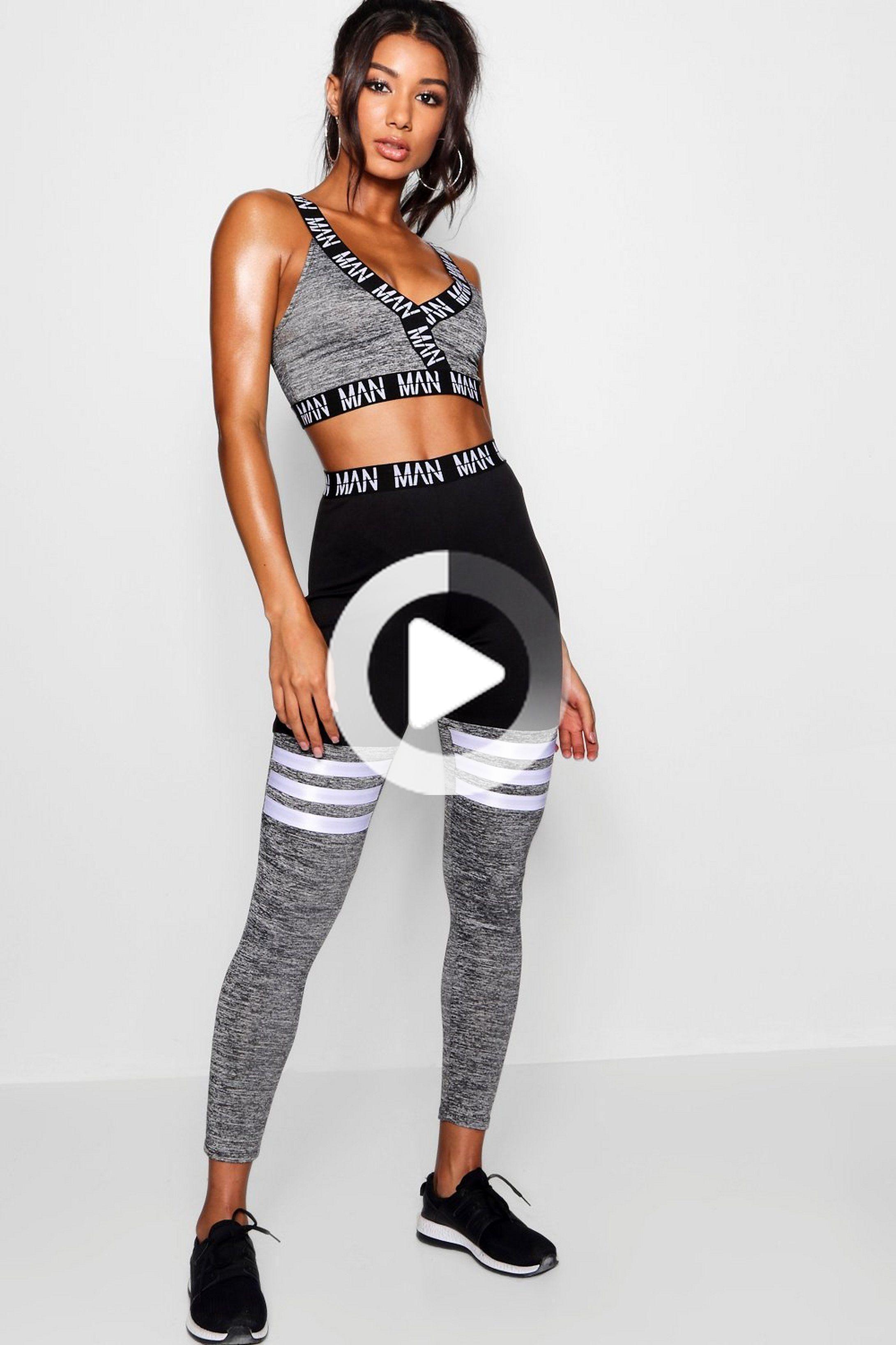 Fit 'MAN' Stripe Detail Panel Gym Legging #fitness #fitnessmotivation #fitness #fitnessmotivation