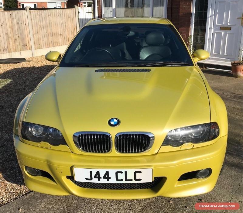 BMW M3 E46 2004/54 In Phoenix Yellow. 87300 Miles #bmw #m3