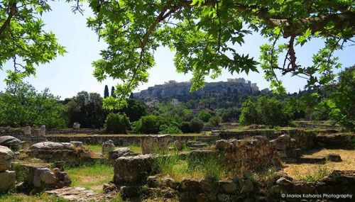 ancient agora athens by marios katsaros athens greece ancient greece pinterest