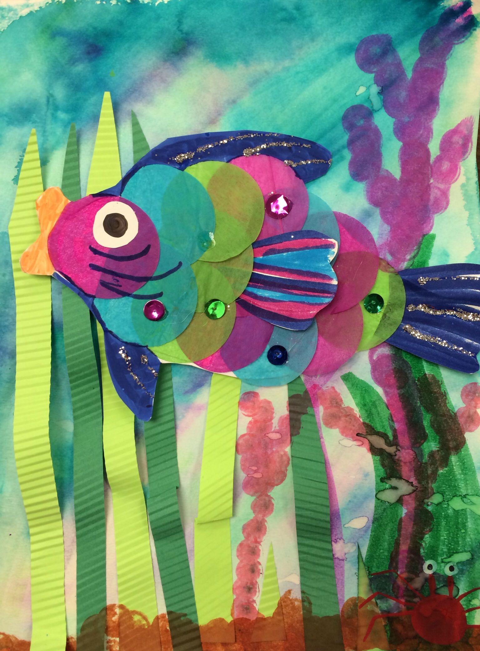 Rainbow fish project | 4th grade art projects | Pinterest | Rainbow ...