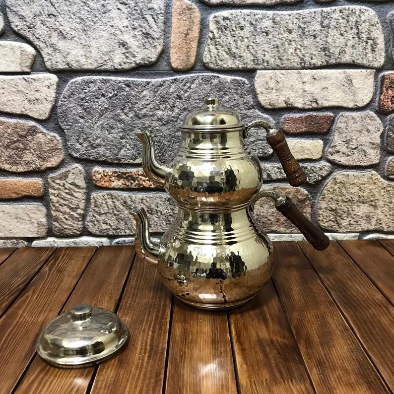 Teapot-Set-Handmade-Copper-Tea-Pot-Set-Thick-Copper Turkish-Arabic