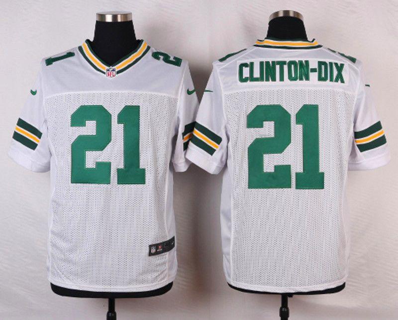 Green Bay Packers 21 Ha Ha Clinton-Dix Elite White Road NFL Jersey ... 8e910b1d9