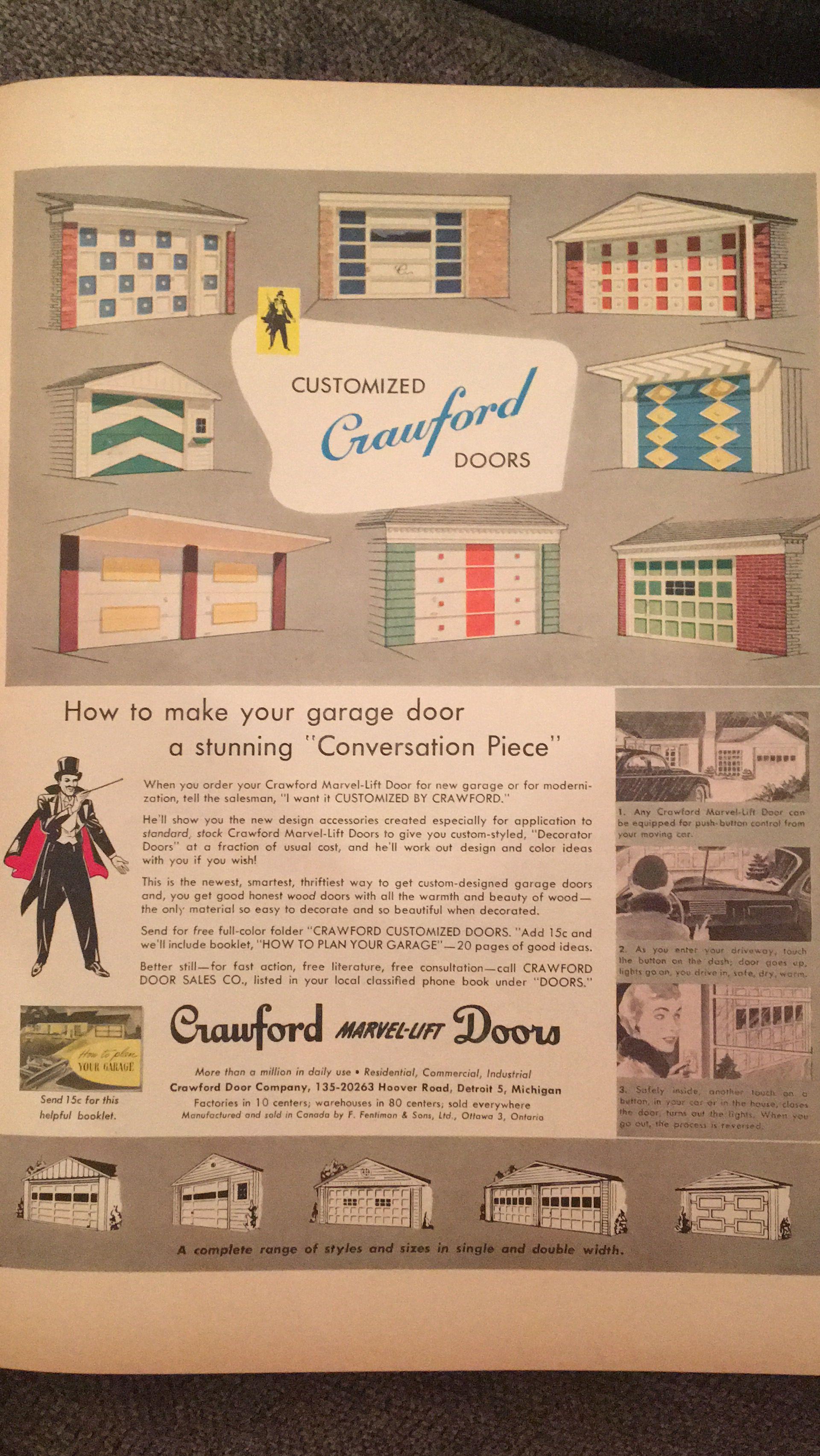 Lfyh April 1953 Google Search Custom Garage Doors Custom Garages Door Sales